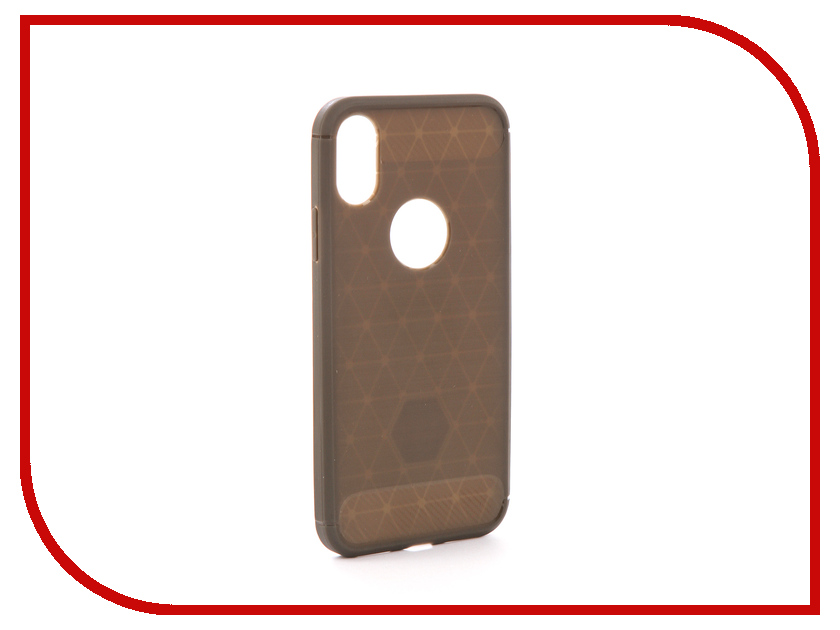Аксессуар Чехол EVA Silicone для APPLE iPhone X Grey Carbon IP8A012G-X