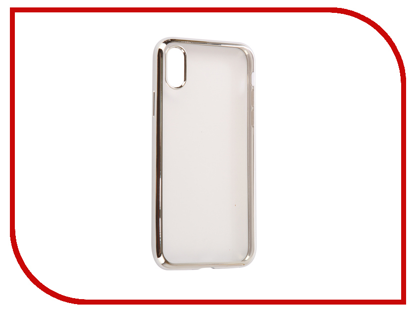 Аксессуар Чехол EVA Silicone для APPLE iPhone X Transparent Silver IP8A010S-X wt 036 transparent acrylic radiator silver transparent 200ml