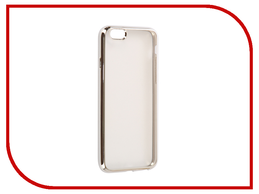 Аксессуар Чехол EVA Silicone для APPLE iPhone 6/6s Transparent Silver IP8A010S-6