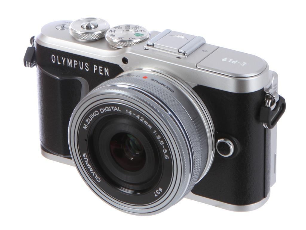 Фотоаппарат Olympus Pen E-PL9 Kit 14-42 mm F/3.5-5.6 EZ Black-Silver фотоаппарат olympus pen e pl9 kit 14 42 mm f 3 5 5 6 ez black silver