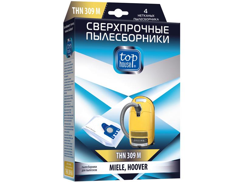 Сверхпрочные Мешки пылесборные Top House THN 309 M 4шт для пылесосов MIELE 4660003392456