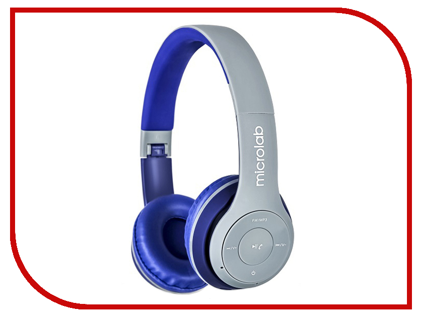 Microlab T970BT Grey-Blue гарнитура microlab k763d blue