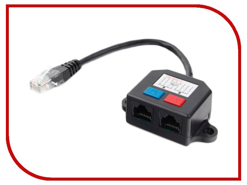 Картинка для Разветвитель Gembird Cablexpert UTP RJ45 T568A/T568B - 2x RJ45 10/100 BASE-T NCA-SP-01A