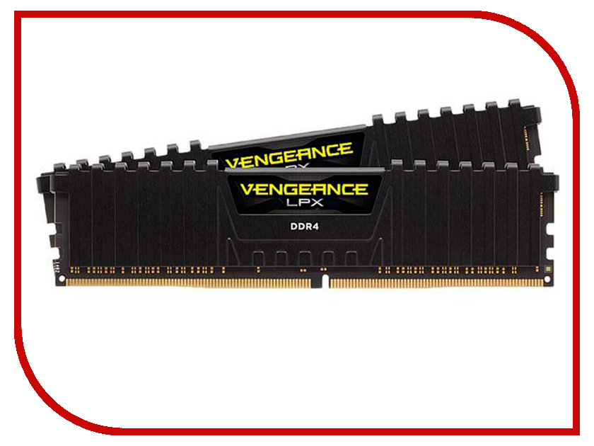 Модуль памяти Corsair Vengeance LPX DDR4 DIMM 3200MHz PC4-25600 CL16 - 16Gb CMK16GX4M2Z3200C16 модуль памяти corsair vengeance lpx cmk32gx4m4b3733c17r ddr4 4x 8гб 3733 dimm ret