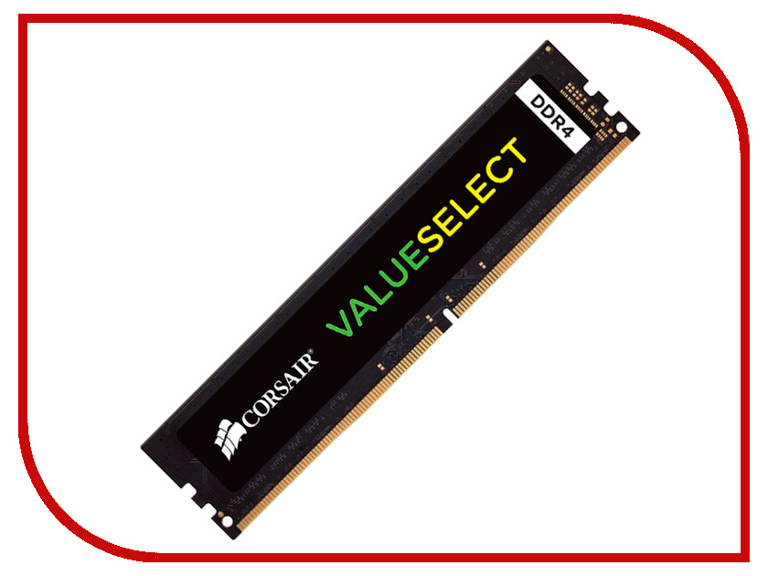 Модуль памяти Corsair ValueSelect DDR4 DIMM 2666MHz PC4-21300 CL18 - 4Gb CMV4GX4M1A2666C18