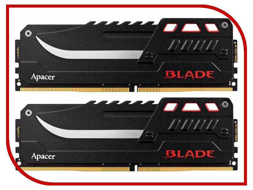 Модуль памяти Apacer Blade DDR4 DIMM 3200MHz PC4-25600 CL16 16Gb KIT (2x8Gb) EK.16GA1.GEBK2 все цены