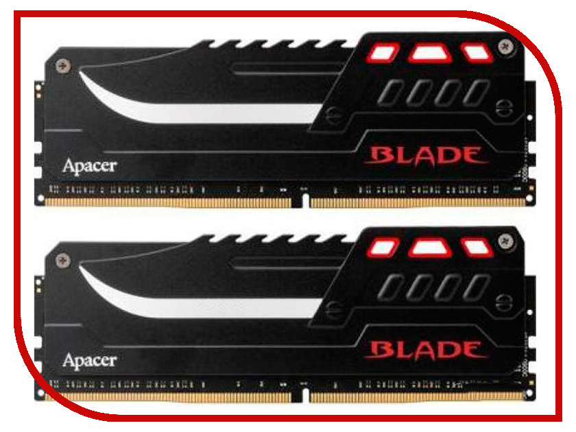 Модуль памяти Apacer Blade DDR4 DIMM 3000MHz PC4-24000 CL16 16Gb KIT (2x8Gb) EK.16GAZ.GJBK2 все цены