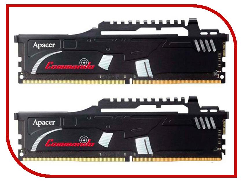 Модуль памяти Apacer Commando DDR4 DIMM 2400MHz PC4-19200 CL16 32Gb KIT (2x16Gb) EK.32GAT.GEAK2 все цены