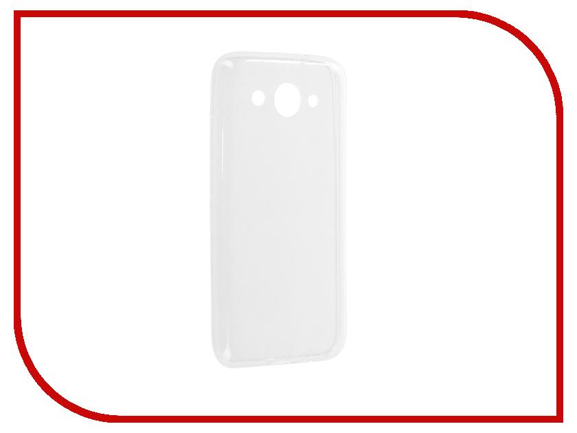 Аксессуар Чехол-накладка Huawei Y3 2017 Media Gadget Essential Clear Cover ECCHY317TR аксессуар защитная пленка alcatel onetouch idol alpha media gadget premium прозрачная mg986