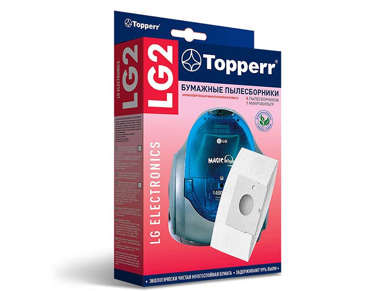 Пылесборники бумажные Topperr LG 2 5шт + 1 микрофильтр для