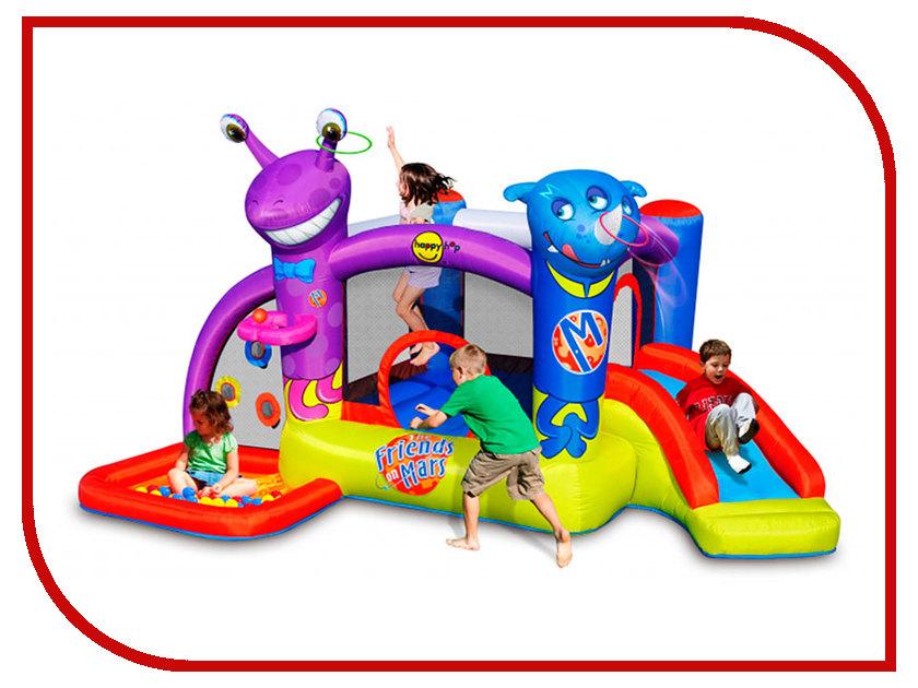 Батут Happy Hop Друзья с Марса 9273 надувная двойная горка с водой жара 9129 happy hop