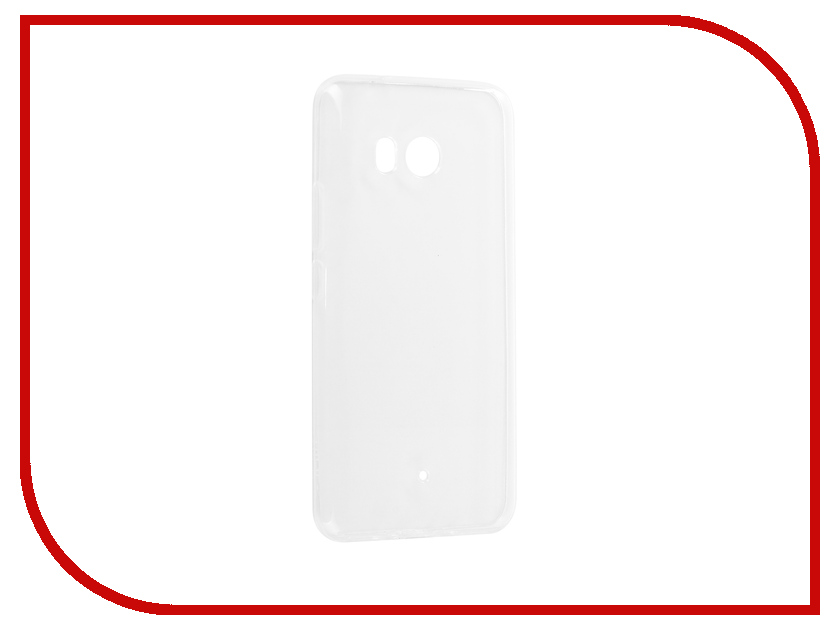 Аксессуар Чехол для HTC U11 Zibelino Ultra Thin Case White ZUTC-HTC-U11-WHT mooncase ultra thin matte surface leather wallet flip holster pouch stand back чехол для htc one m9 m9 plus hot pink