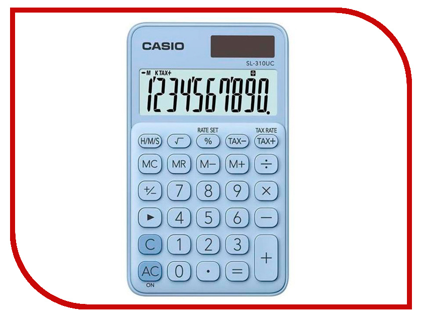 Калькулятор Casio SL-310UC-LB-S-EC Light-Blue