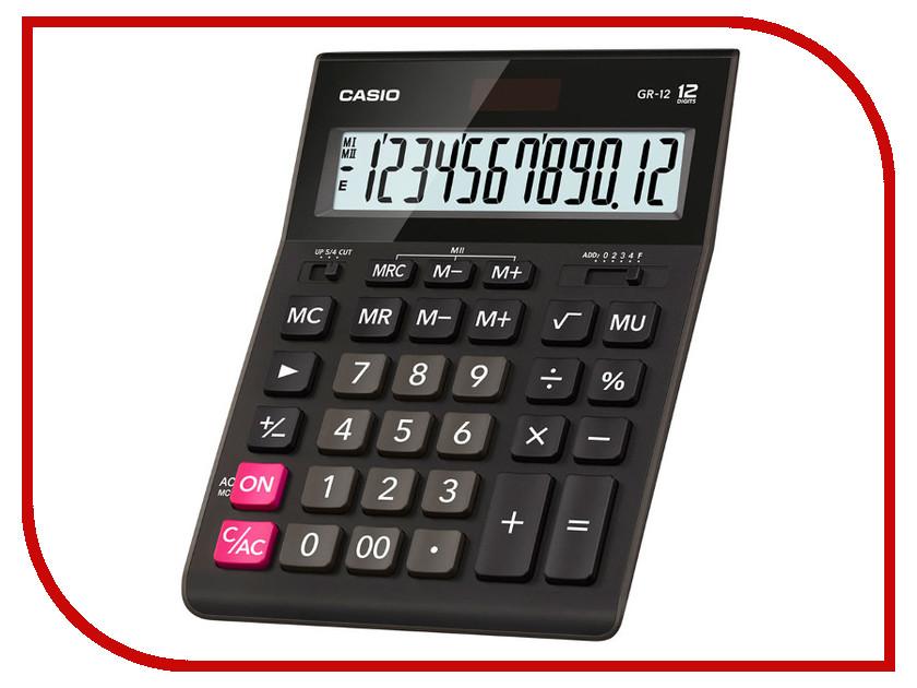 Калькулятор Casio GR-12 Black
