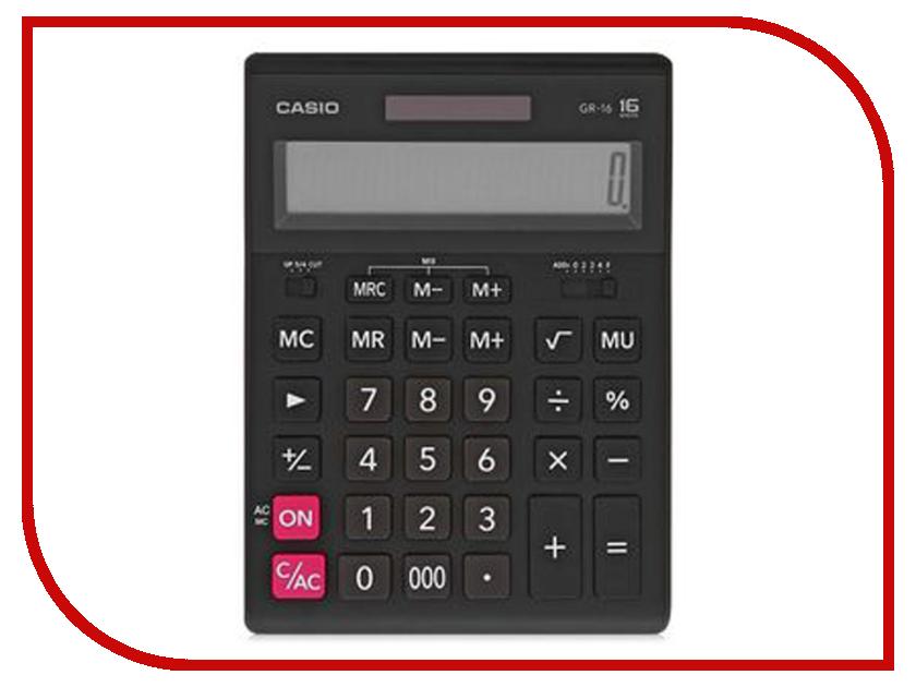 Калькулятор Casio GR-16 Black