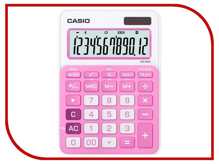 Калькулятор Casio MS-20NC-PK-S-EC Pink
