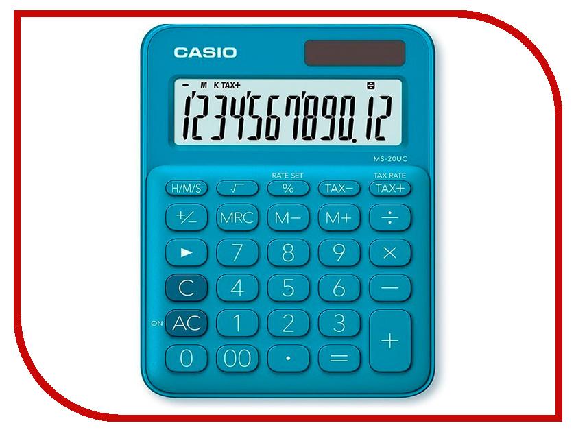 Калькулятор Casio MS-20UC-BU-S-EC Blue