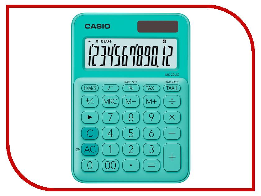 Калькулятор Casio MS-20UC-GN-S-EC Green
