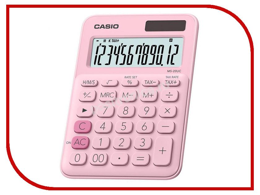 Калькулятор Casio MS-20UC-PK-S-EC Pink