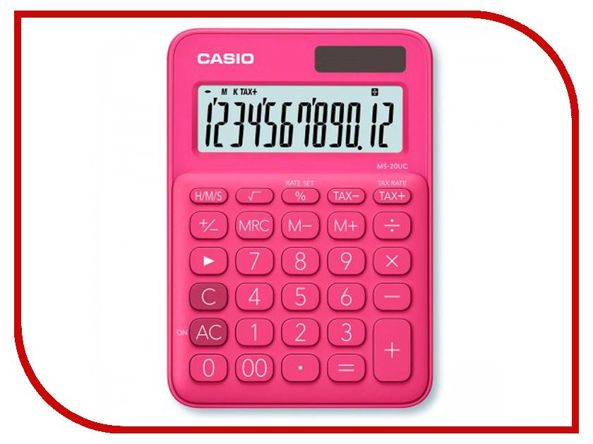 Калькулятор Casio MS-20UC-RD-S-EC Red