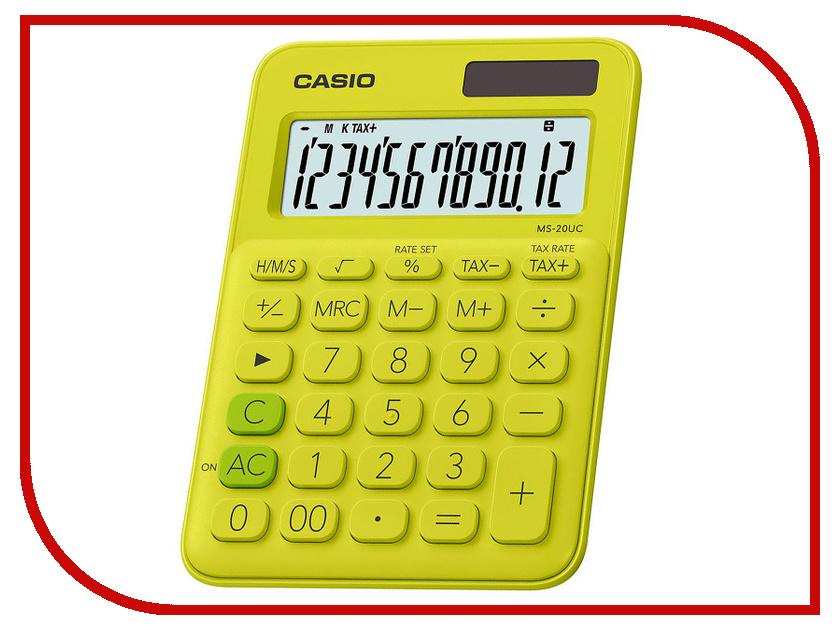 Калькулятор Casio MS-20UC-YG-S-EC калькулятор casio ms 20uc yg s ec 12 разрядный желтый