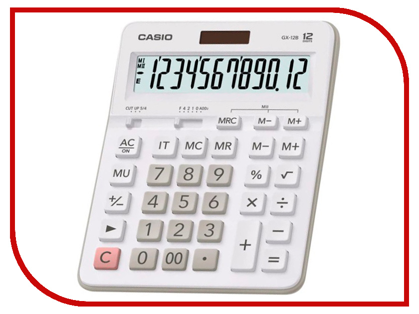 Калькулятор Casio MX-12B-WE White-Grey автомагнитола elenberg mx 341 инструкция