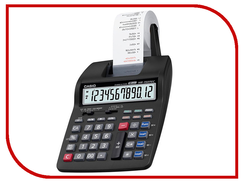 Калькулятор Casio HR-150RCE-WA-EC калькулятор casio hr 150rce wa ec 12 разрядный черный