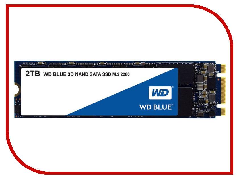 Жесткий диск 2Tb - Western Digital WD Blue WDS200T2B0B жесткий диск wd blue 1tb 2 5