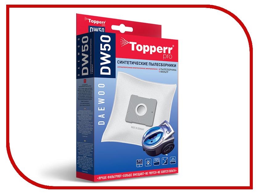 Пылесборники синтетические Topperr DW 50 4шт + 1 фильтр для Daewoo