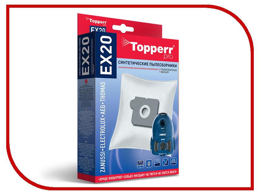 Пылесборники синтетические Topperr EX 20 4шт + 1 фильтр для Electrolux / Aeg
