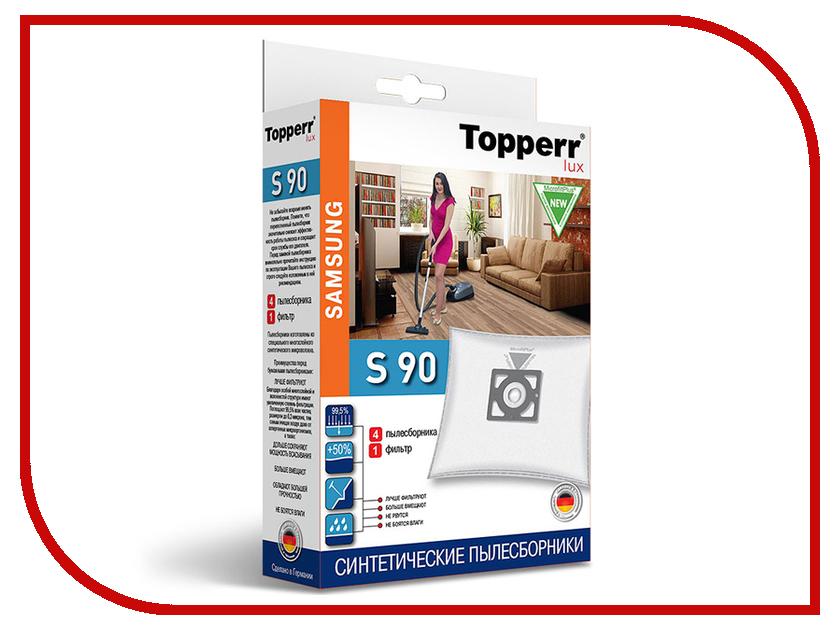 Пылесборники синтетические Topperr Lux S 90 4шт + 1 фильтр для Samsung
