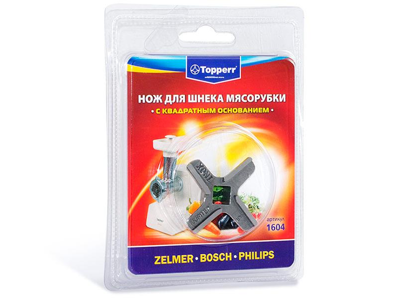 Аксессуар Нож для шнека мясорубки Topperr 1604 цена и фото