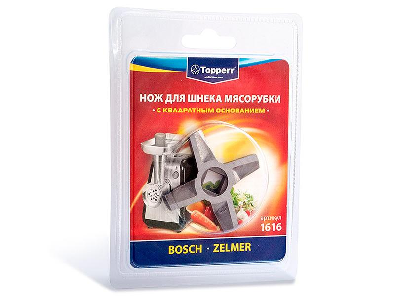 Аксессуар Нож для шнека мясорубки Topperr 1616 цена и фото