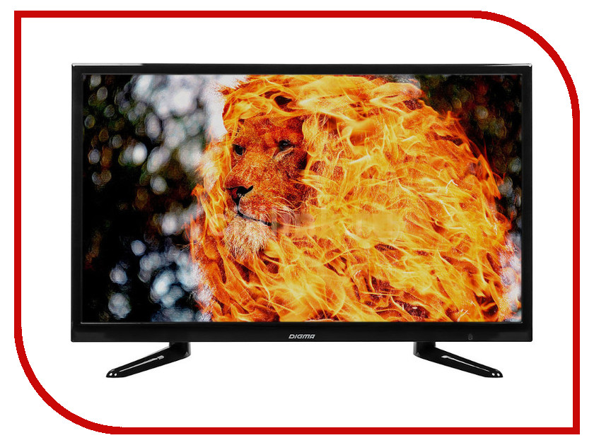 Телевизор Digma DM-LED24R201BT2 Black телевизор digma dm led24r201bt2 black