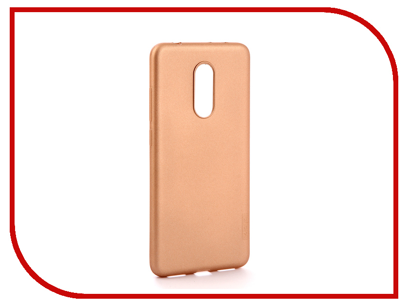 Аксессуар Чехол для Xiaomi Redmi 5 X-Level Guardian Series Gold 2828-061 аксессуар чехол для xiaomi redmi mi a1 mi 5x x level guardian series black 2828 070