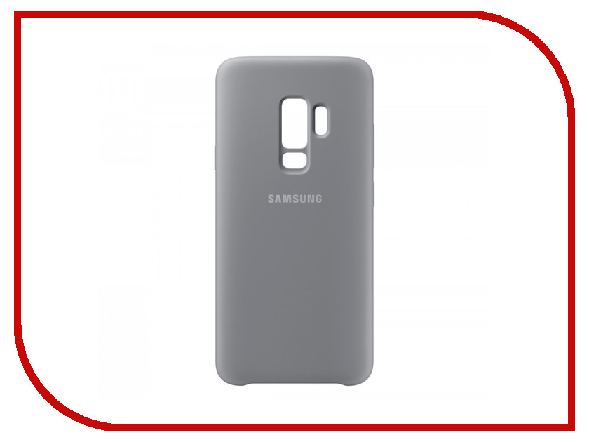 Аксессуар Чехол Samsung Galaxy S9 Plus Silicone Cover Grey EF-PG965TJEGRU аксессуар чехол samsung galaxy s9 plus silicone cover light blue ef pg965tlegru