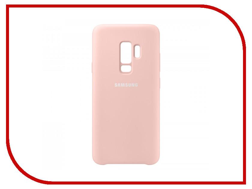 Аксессуар Чехол Samsung Galaxy S9 Plus Silicone Cover Pink EF-PG965TPEGRU аксессуар чехол накладка samsung galaxy j2 2018 jelly cover pink ef aj250tpegru