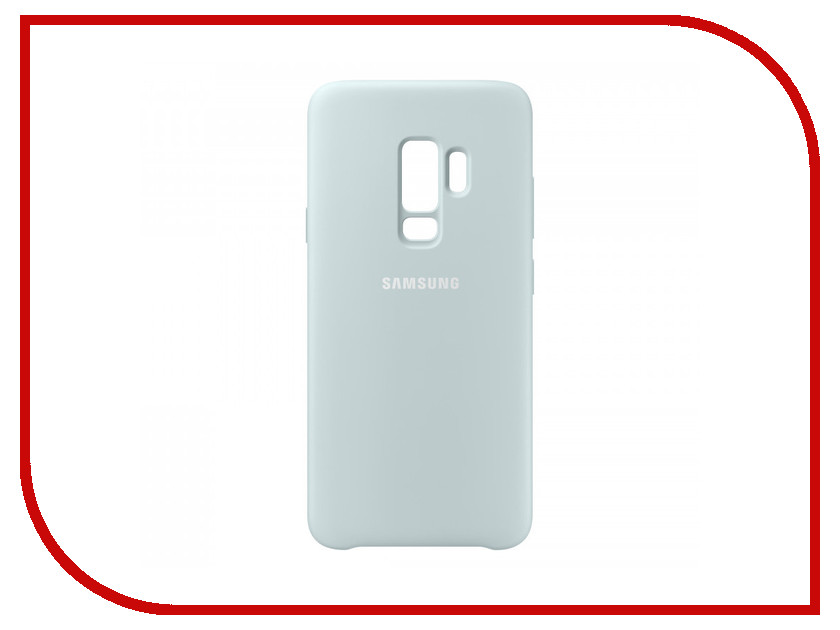 Аксессуар Чехол Samsung Galaxy S9 Plus Silicone Cover Light Blue EF-PG965TLEGRU