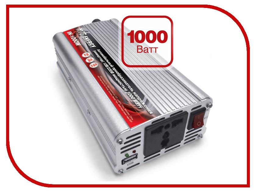 Автоинвертор AVS IN-1000W-24 A07074S автоинвертор avs in 2210 220в на 12в a80980s
