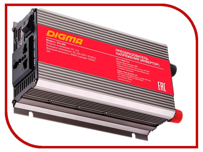 Автоинвертор Digma DCI-600 инвертор digma dci 75 75вт