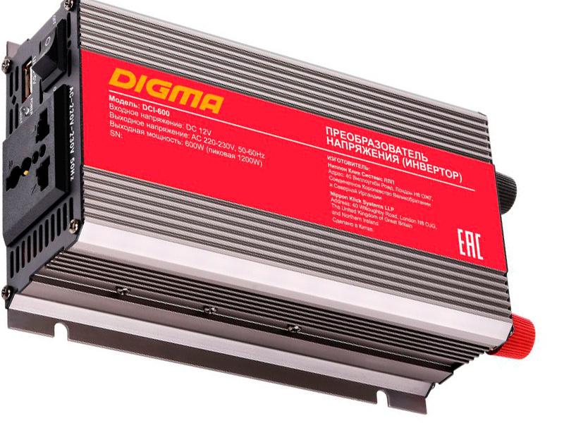 Автоинвертор Digma DCI-600 все цены