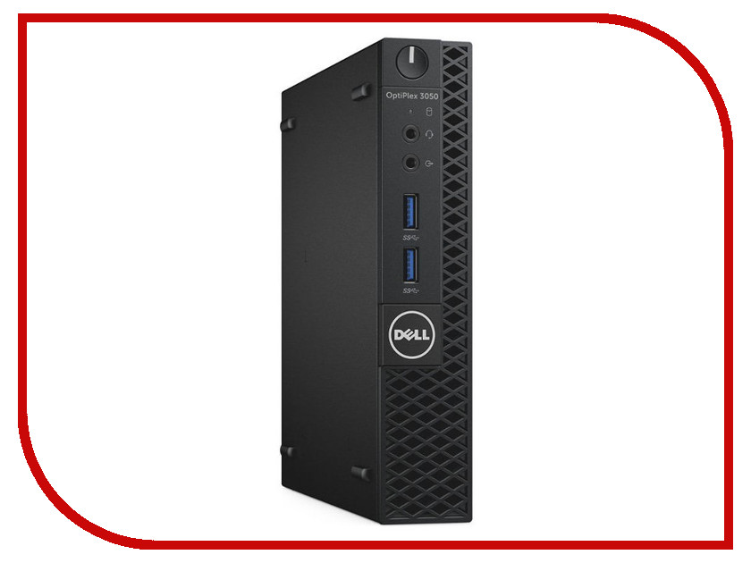 Настольный компьютер Dell OptiPlex 3050 Micro Black 3050-0498 (Intel Pentium G4400T 2.9 GHz/4096Mb/500Gb/Intel HD Graphics/Ethernet/Linux)