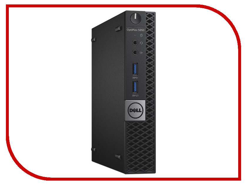 Настольный компьютер Dell OptiPlex 5050 Micro Black 5050-8208 (Intel Core i3-7100T 3.4 GHz/4096Mb/128Gb SSD/Intel HD Graphics/Ethernet/Linux)