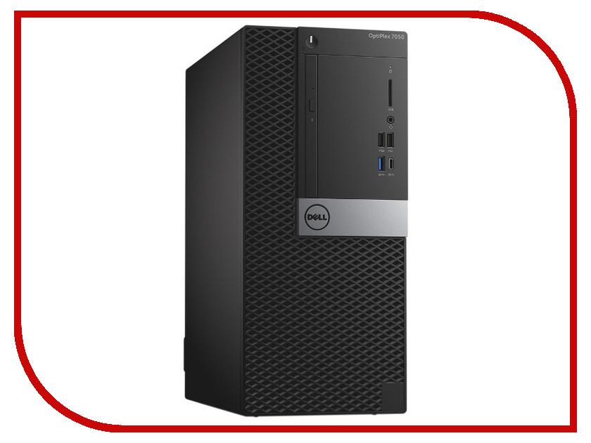 Настольный компьютер Dell OptiPlex 7050 MT Black 7050-1825 (Intel Core i7-7700 3.6 GHz/16384Mb/1000Gb/DVD-RW/Intel HD Graphics/Ethernet/Windows 10 Pro)