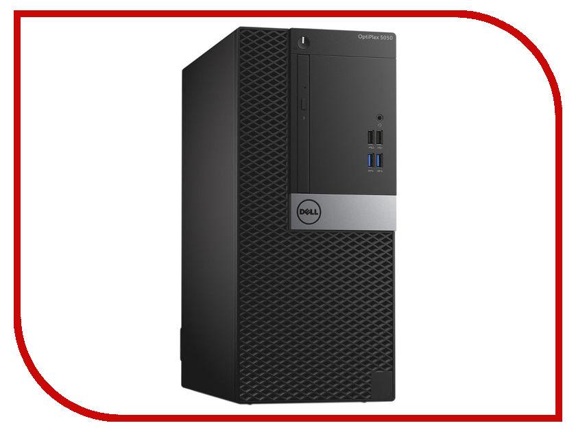 Настольный компьютер Dell OptiPlex 5050 MT Black-Silver 5050-8299 (Intel Core i7-7700 3.6 GHz/8192Mb/1000Gb/DVD-RW/Intel HD Graphics/Ethernet/Windows 10 Pro 64-bit) моноблок dell optiplex 7450 core i7 7700 3 6ghz23 8 8gb 1tb dvd r7 m465x w10 pro 64 black 7450 3518