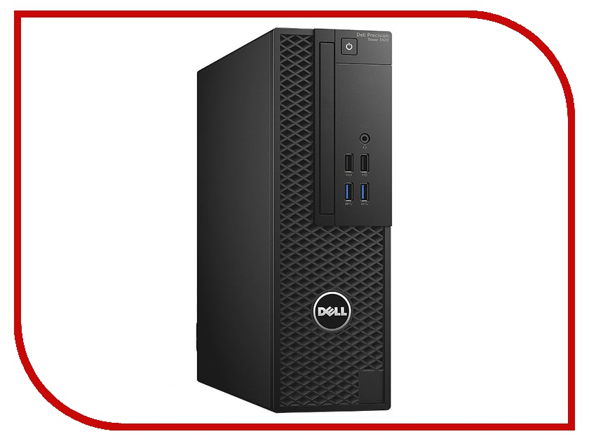Настольный компьютер Dell Precision 3420 SFF Black 3420-4490 (Intel Core i5-6500 3.2 GHz/8192Mb/1000Gb/DVD-RW/Intel HD Graphics/Ethernet/Linux)