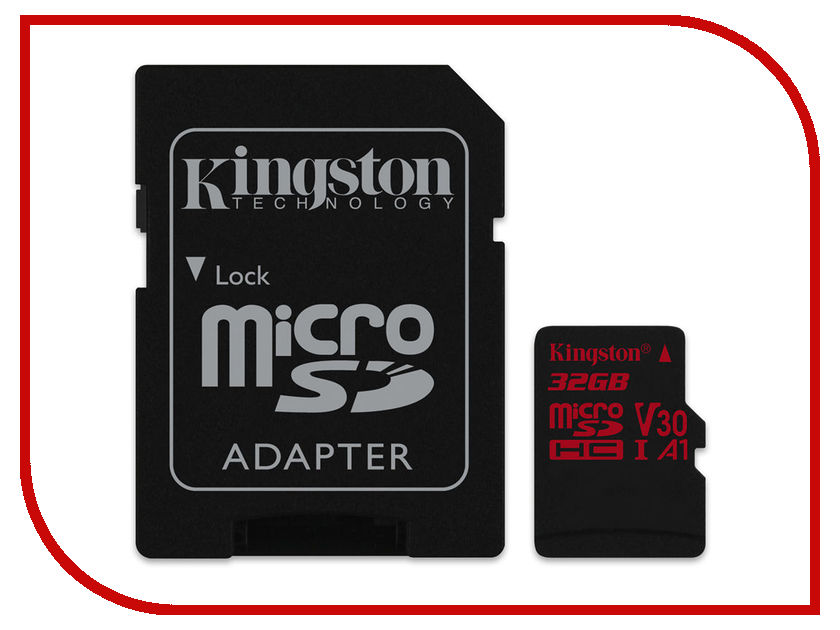 Карта памяти 32Gb - Kingston MicroSDHC U3 UHS-I V30 A1 Canvas React SDCR/32GB с переходником под SD цены онлайн