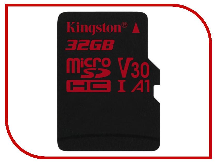 Карта памяти 32Gb - Kingston MicroSDHC U3 UHS-I V30 A1 Canvas React SDCR/32GBSP