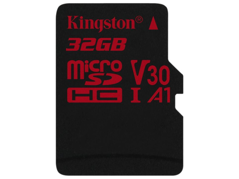 Карта памяти 32Gb - Kingston MicroSDHC U3 UHS-I V30 A1 Canvas React SDCR/32GBSP