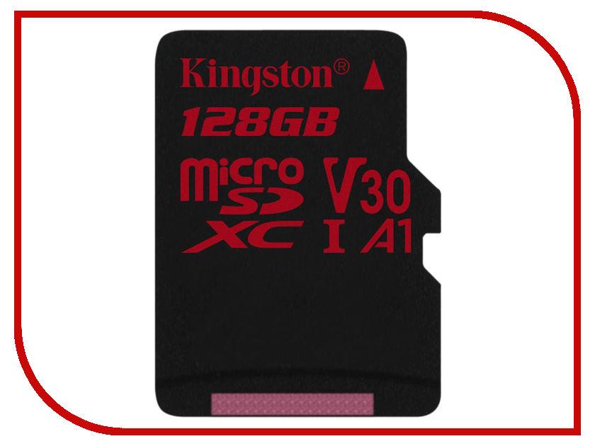 Карта памяти 128Gb - Kingston MicroSDXC U3 UHS-I V30 A1 Canvas React SDCR/128GBSP